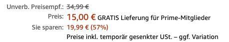 Vorbei! DeLonghi HVA 1120 Heizlüfter mit 2.000W für 15€ (statt 34€)   Prime