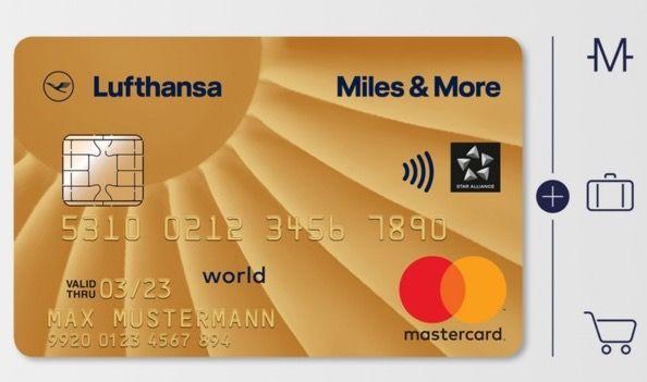 Miles & More Mastercard in Gold für 110€ jährlich + 20.000 Meilen gratis für z.B. Freiflüge