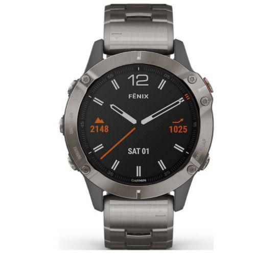 Garmin Fenix 6 Sapphire Titanium Smartwatch für 747,40€ (statt 925€)