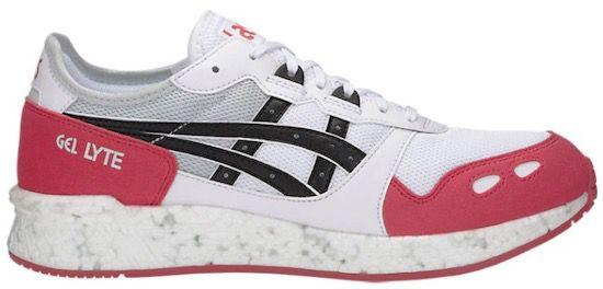 Asics HyperGel Lyte Sneaker in Weiß/Rot für 20,80€ (statt 56€)   Restgrößen