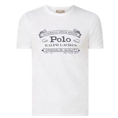 Polo Ralph Lauren T Shirt in Weiß mit Logo für 34,99€ (statt 80€)