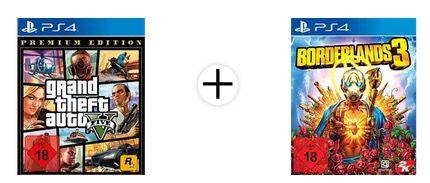 GTA V Premium Edition + Borderlands 3 für die PS4 ab 17,54€ (statt 29€)