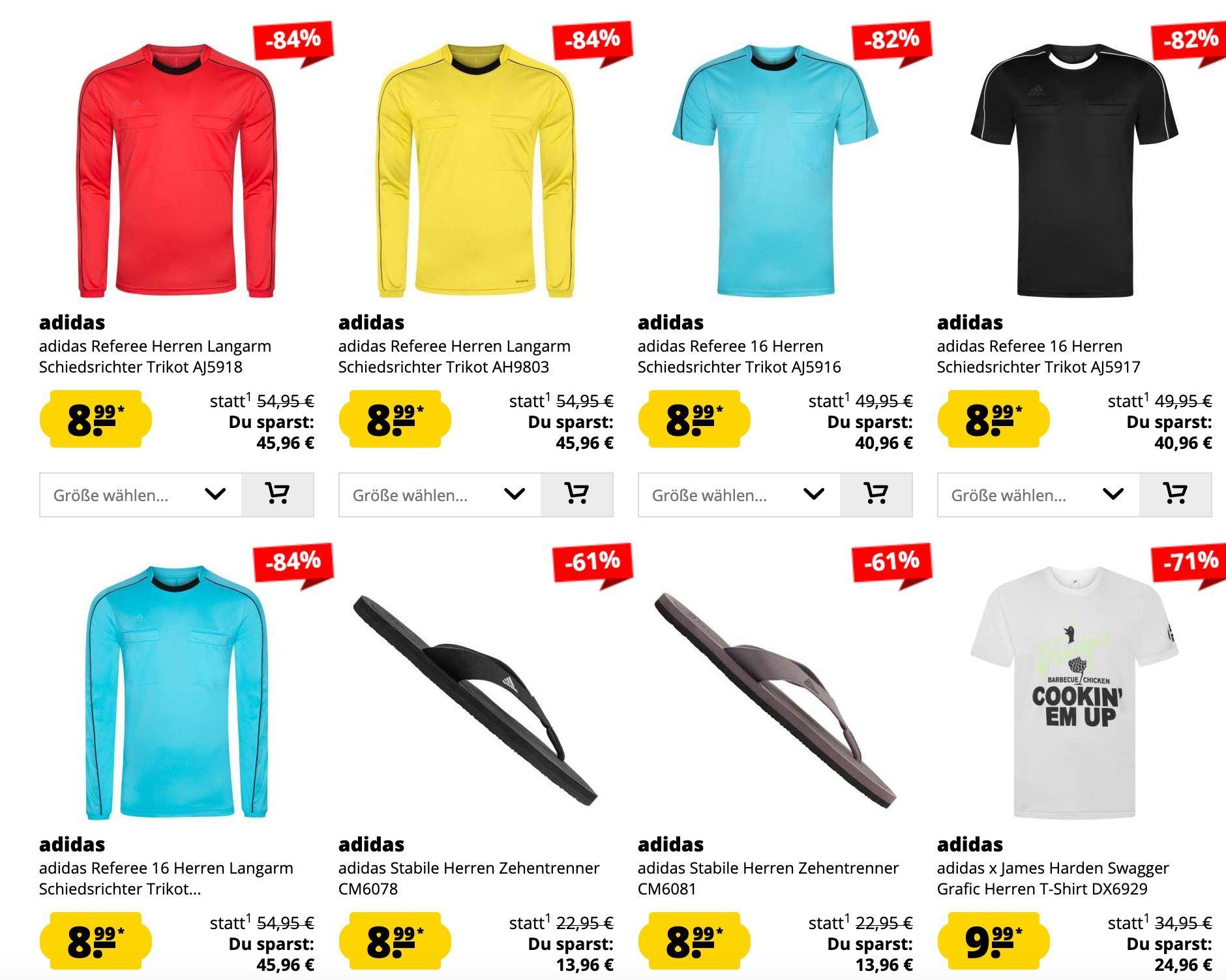 adidas Sale bis zu 91% Rabatt ab 1,99€ bei SportSpar