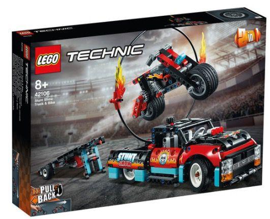 LEGO Technic   Stunt Show mit Truck und Motorrad (42106) für 30,72€ (statt 42€)