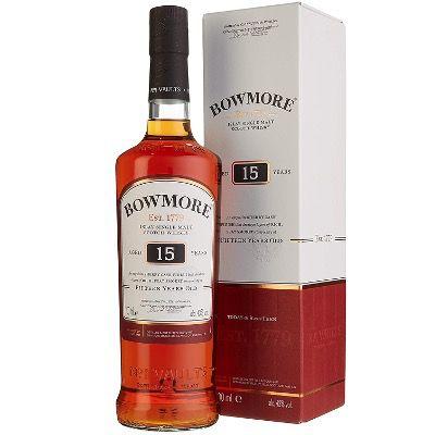 Bowmore 15 Jahre Islay Single Malt Scotch Whisky (43%, 0,7 Liter) ab 37,99€ (statt 52€)