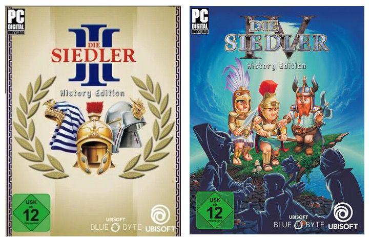Die Siedler III History Edition und Die Siedler IV für je 2,25€