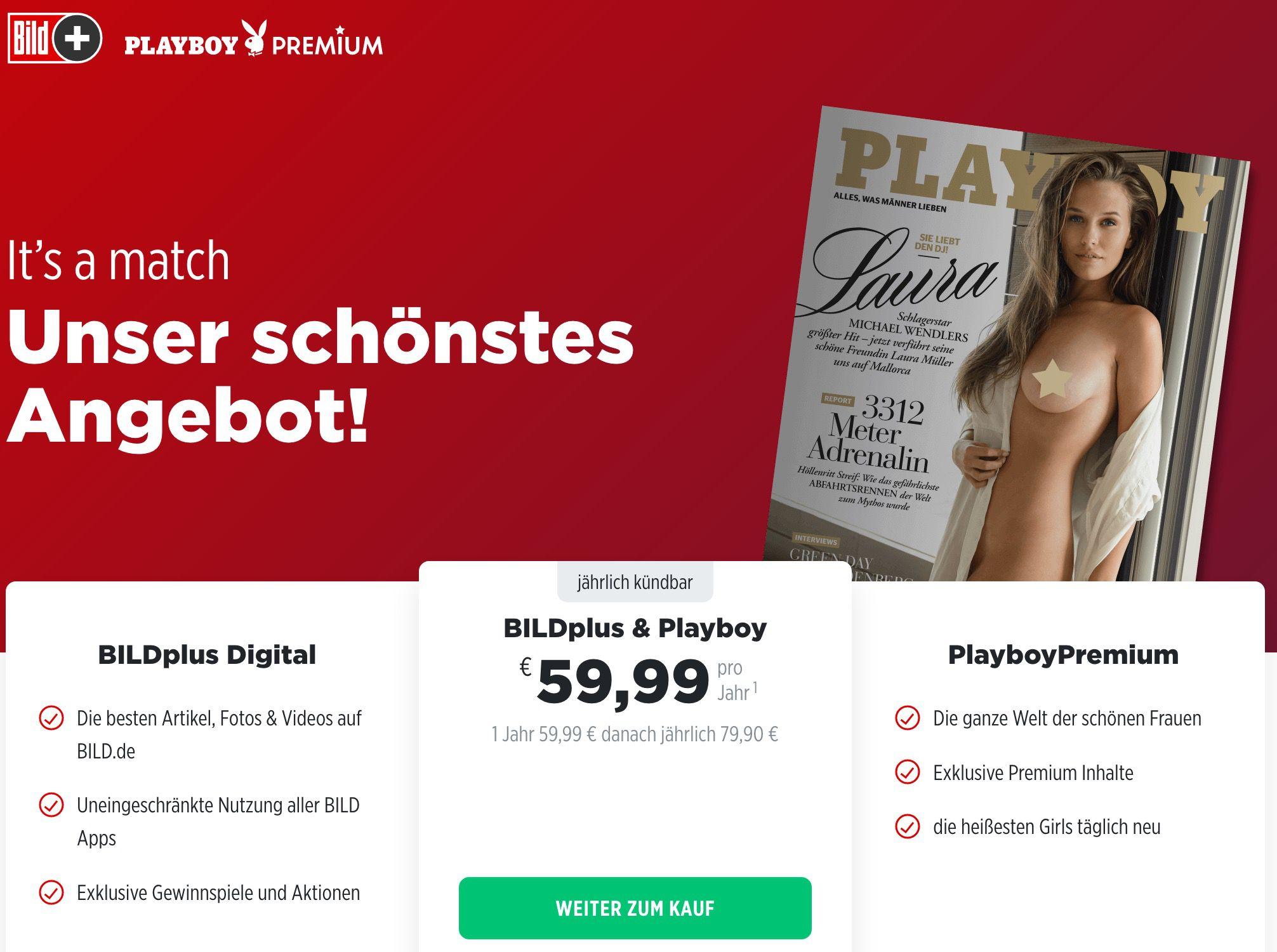 1 Jahr BILDplus Digital & Playboy Premium nur 59,99€ (statt 220€)