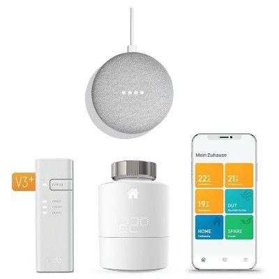 tado° Smartes Heizkörper Thermostat Starter Kit V3+ inkl. Nest Mini für 99€ (statt 130€)