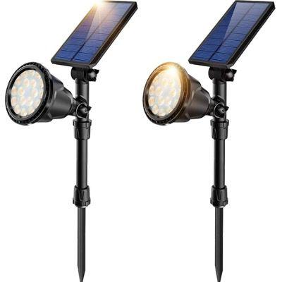 2x JSOT Solarlampen für Außen mit 18 LED IP65 und 2 Beleuchtungsmodi für 19,99€ (statt 40€)