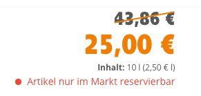Globus Baumarkt: 10 Liter Alpinaweiß Das Original für 25€ (statt 45€)