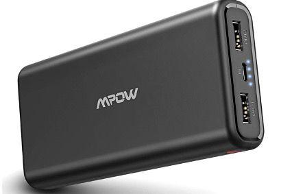 Mpow 20000mAh Power Bank mit 2 USB Outputs für 15,99€ (statt 30€)