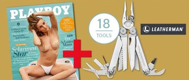 18 Ausgaben Playboy + Leatherman Wave Plus Multitool für 118,80€ (statt 247€)