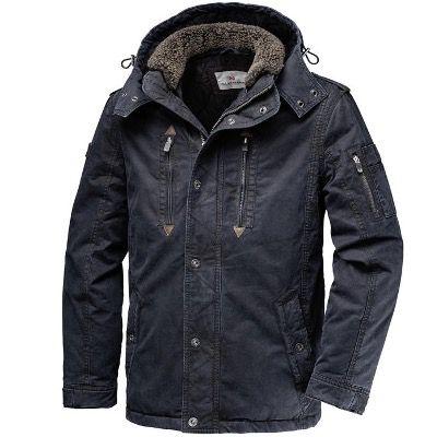 Glattsand Baumwoll-Jacke im Used-Look in Olivgrün für 85,10€ (statt 132€)