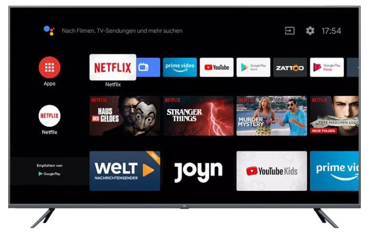 Abgelaufen! Xiaomi Mi Smart TV 4S – 65 Zoll UHD Fernseher mit Netflix  & Amazon Prime für 459,32€ (statt 564€)