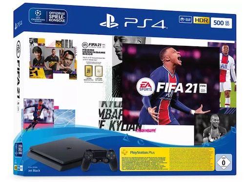 PlayStation 4 slim 500GB inkl. Fifa 21 + Vodafone Flat mit 10GB LTE für 19,99€ mtl.