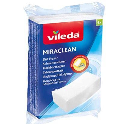 4er Pack Vileda Miraclean Schmutzradierer ab 1,24€ (statt 3€)   Prime