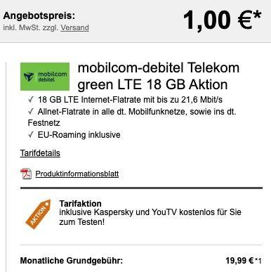 Xiaomi Redmi Note 9 Pro 128GB für 1€ + Telekom Flat inkl. 18GB LTE für 19,99€ mtl.