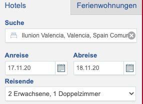Vorbei! Doppelzimmer im 4* Hotel Ilunion in Valencia (Spanien) für 10€ pro Nacht