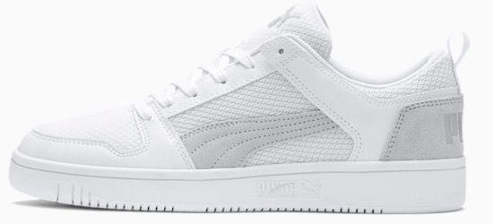 Puma Lay Up Lo Mesh Sneaker in Weiß für 27,26€ (statt 42€)
