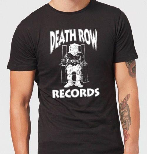 Death Row Records Logo Herren T Shirt für 9,99€(statt 19€)