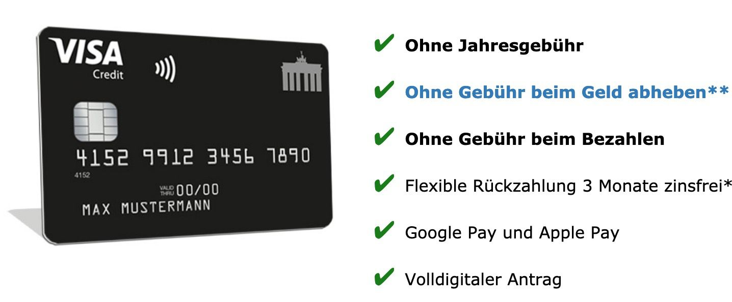 🔥 Schwarze Visa Kreditkarte komplett beitragsfrei (ein Leben lang) + 30€ Startguthaben