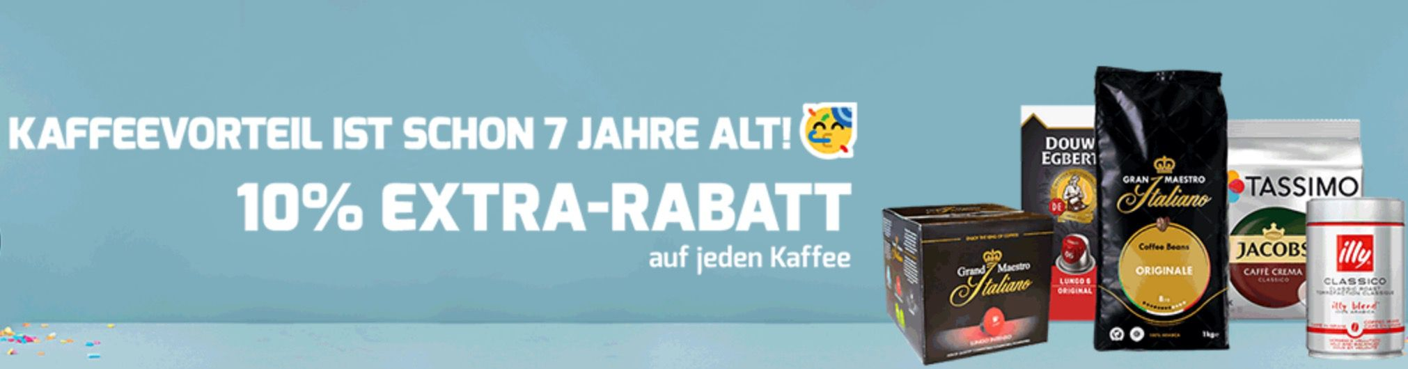 Bis Mitternacht! Kaffeevorteil mit 10% extra Rabatt ab 50€   auf alles   auch im Sale