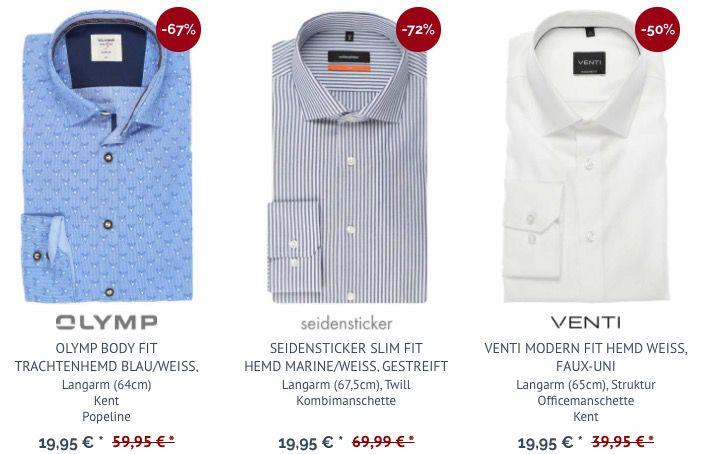 Hemden in Restgrößen für je 16,56€ im Lagerräumungsverkauf   keine VSK ab 30€
