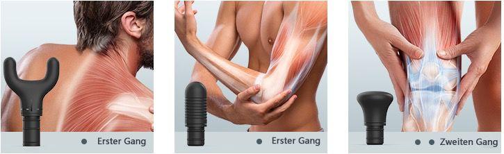 Roffie Massagepistole mit 4 Massageköpfen für 65,99€ (statt 90€)
