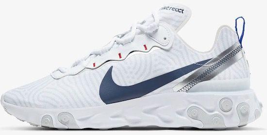 Nike React Element 55 Herren Sneaker in Weiß für 64,78€ (statt 125€)   Restgrößen