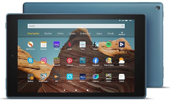 Amazon Fire HD 10 Tablet mit 32GB (Zertifiziert, generalüberholt, 2019) für 78,95€ (statt neu 140€)   Prime