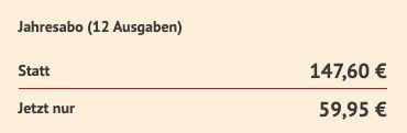 12 Ausgaben Der Feinschmecker direkt für 59,95€ (statt 148€)