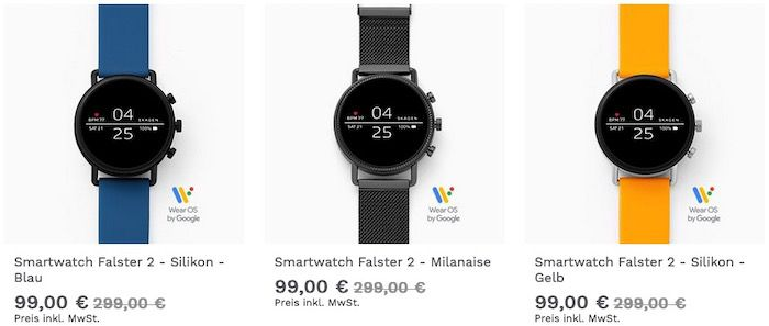 Skagen Smartwatch Falster 2 mit Milanaise Armband für 99€ (statt 184€)