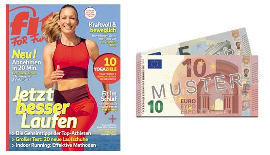 Halbjahresabo der fit For Fun für 21,60€ + Prämie: 15€ Verrechnungsscheck