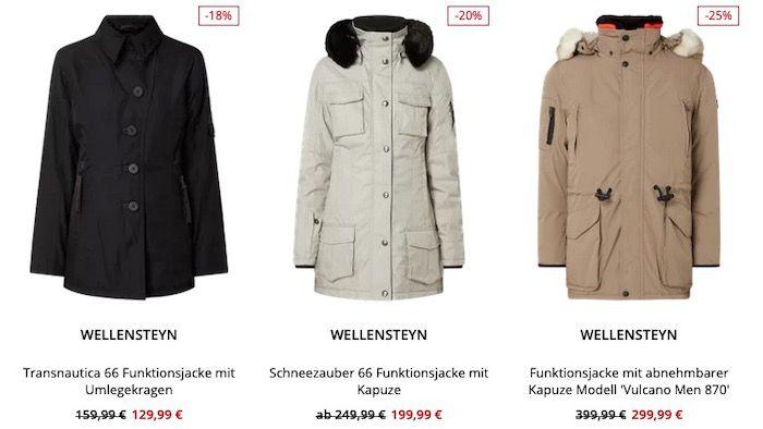 Wellensteyn Restposten Sale bei Peek & Cloppenburg*   z.B. Funktionsjacke für 169,99€ (statt 250€)