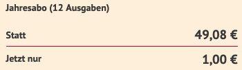 Jahresabo Schöner wohnen Abo als E Paper direkt nur 1€ (statt 49€)