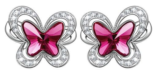 Kate Lynn Schmetterlings Ohrstecker mit Swarovski Kristall für 9,99€ (statt 24€)