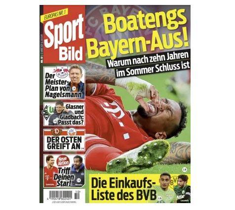 12 Monate Sport Bild Abo für 142,80€ + 90€ Scheckprämie