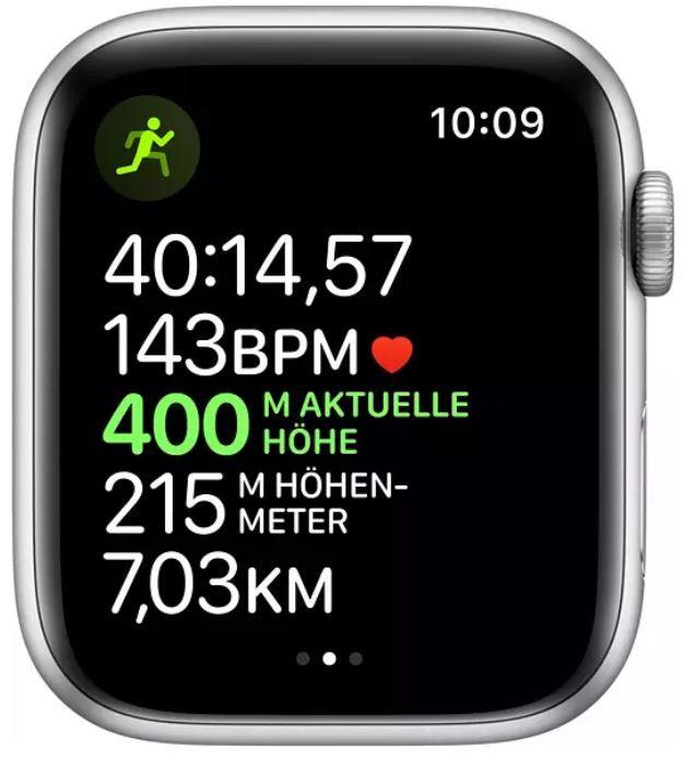 Apple Watch Series 5 Nike+ 44 mm Alu space Silber für 369€ (statt 419€)