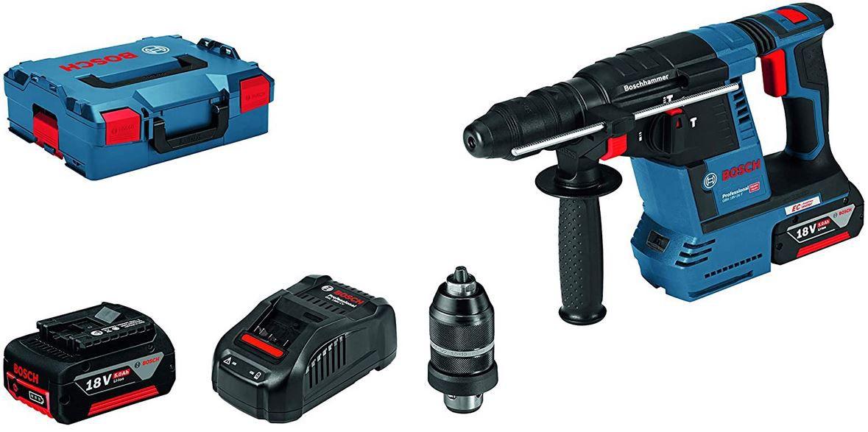 Bosch GBH 18V 26 Akku Bohrhammer inkl. 2x 5Ah + Zubehör für 332,96€ (statt 359€)
