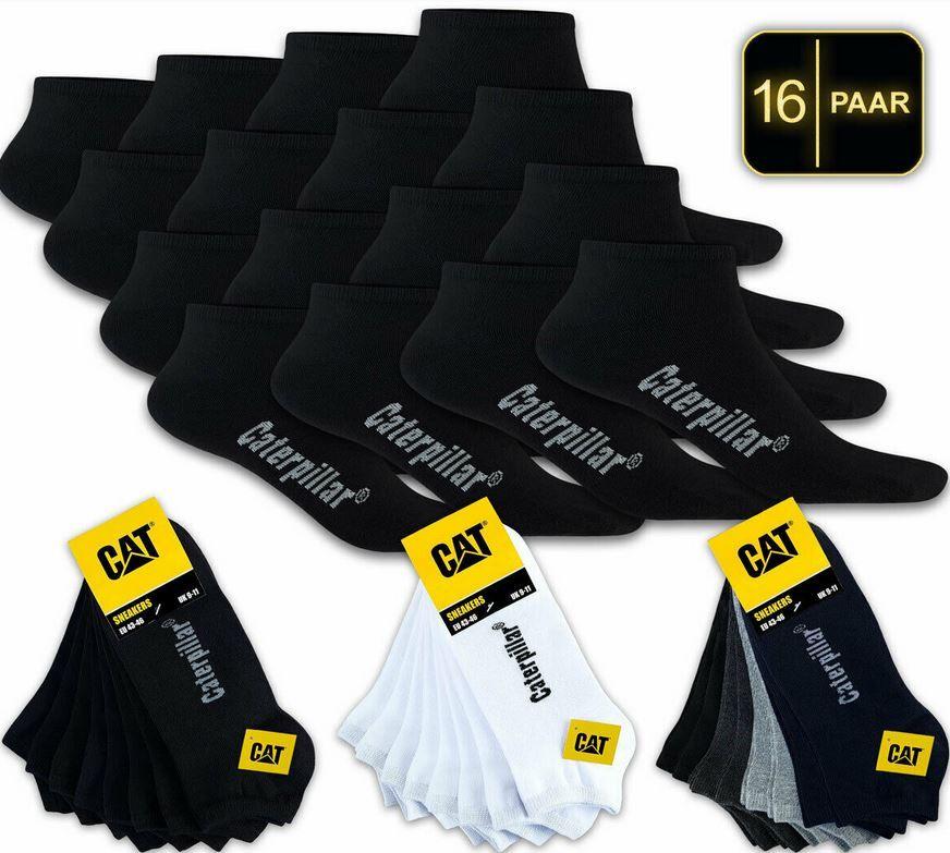 CAT CATERPILLAR Herren Sneaker Socken 16er Pack für 28,50€ (statt 35€)
