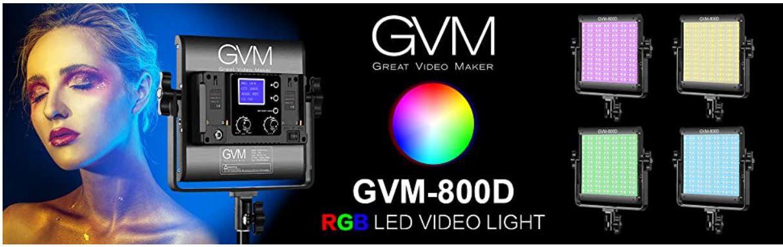GVM HF 800D 1L App gesteuerte Videoleuchte mit div. Szenarien für 90,99€ (statt 140€)