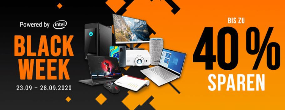 Bis Mitternacht: NBB Black Week   Rabatt bis 40% auf PCs, Monitore, Tablets & Co.