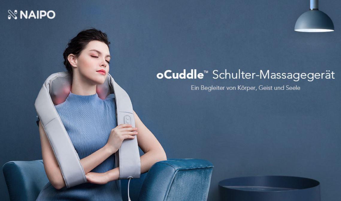 Naipo oCuddle Massagegerät Schulter, Nacken und Rücken für 35,99€ (statt 60€)