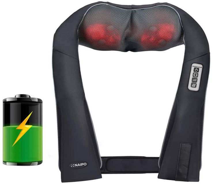 Naipo Nacken Massagegerät mit Akku für 39,89€ (statt 70€)
