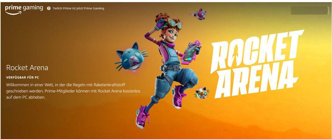Gratis! PC Game: Rocket Arena dank Amazon Prime