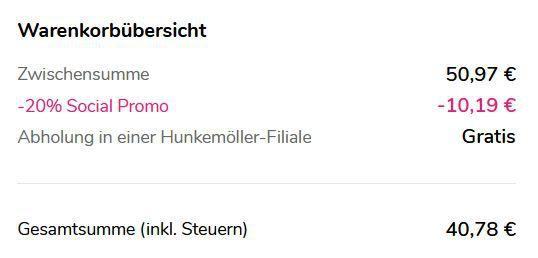 Top! Hunkemöller mit 20% auf (fast) alles   günstige Unterwäsche & Bikinis