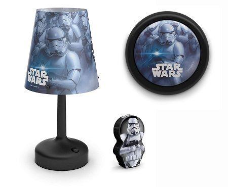 Philips Star Wars Lampen Set Tischleuchte & Nachttischlampe & Taschenlampe für 15,99€ (statt 20€)