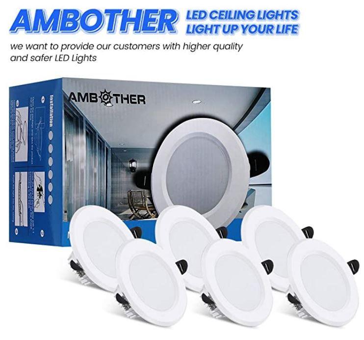 AMBOTHER LED 6W Spot Einbaustrahler 6er Pack für 13,99€ (statt 28€)   Prime