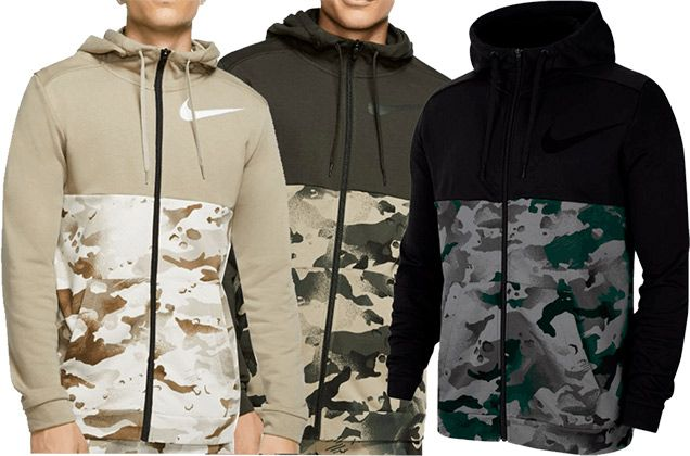 Nike Trainingsjacke Dry Camo in 3 Farben für je 44,95€ (statt 62€)