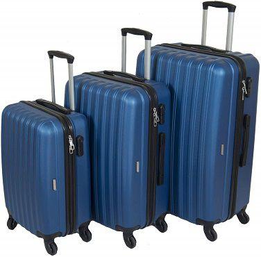 """3er Set Kofferset Milanino """"Line"""" in blau für 54,90€ (statt 89€)"""